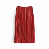skirt Winter of 2018 S,M,L Red, Navy Mid length dress street High waist 18-24 years old 31% (inclusive) - 50% (inclusive) Europe and America