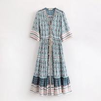 Dress Summer of 2019 As shown in the figure S,M,L longuette singleton  street 18-24 years old 31% (inclusive) - 50% (inclusive) Europe and America