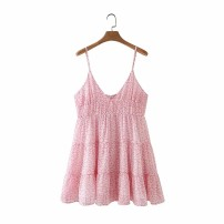 Dress Summer 2020 Pink, green XS,S,M,L Short skirt singleton  street camisole 18-24 years old 31% (inclusive) - 50% (inclusive) Europe and America