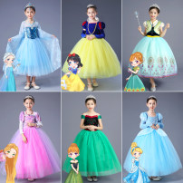 Dress female Other / other Other 100% No season princess Long sleeves Cartoon animation other Cake skirt Class B 2, 3, 4, 5, 6, 7, 8, 9, 10, 11, 12 years old Chinese Mainland