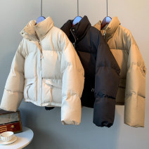 Cotton padded clothes Winter 2020 Other / other have cash less than that is registered in the accounts Long sleeve thickening zipper commute stand collar routine Straight tube Solid color Korean version zcx5109 pocket 96% and above polyester fiber Cotton 71% - 80% 18-24 years old S khaki