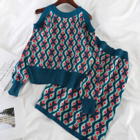 Parent child fashion Blue, coffee Women's dress female Other / other Average size 12 months