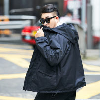 Jacket GxxH black 2XL,3XL,4xl,5xl,6xl,7xl routine easy Other leisure autumn Long sleeves Hood American leisure Large size Ordinary (50cm < length ≤ 65cm)
