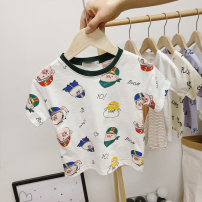 T-shirt Yellow, off white [in stock], off white [one week in advance], yellow [one week in advance] Mengmeng boxing The recommended height is about 80cm for size 80, 90cm for Size 90, 100cm for size 100, 110cm for Size 110, 120cm for Size 120 and 125cm for Size 130 neutral summer Short sleeve nothing