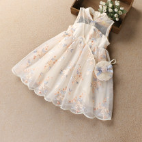 Dress Apricot [package delivery], blue [package delivery] female Other / other 100cm,110cm,120cm,130cm,140cm,150cm,160cm Other 100% summer Korean version Skirt / vest Broken flowers cotton Irregular Class A 2, 3, 4, 5, 6, 7, 8, 9, 10, 11, 12, 13, 14 years old