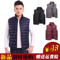 Vest / vest Fashion City Others Other leisure easy Cotton vest routine winter stand collar middle age 2021 Youthful vigor Solid color zipper Rubber band hem cotton No iron treatment Zipper decoration silk floss Thread embedding and bag digging Silk like cotton