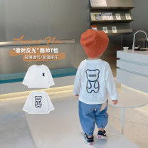 T-shirt white Udbaby / udbaby 80cm,90cm,100cm,110cm,120cm,130cm male spring and autumn Long sleeves Crew neck Korean version There are models in the real shooting nothing other Cartoon animation L21020 other 12 months, 18 months, 2 years old, 3 years old, 4 years old, 5 years old, 6 years old