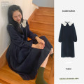 Dress Winter 2020 Picture color S,M,L,XL longuette singleton  Long sleeves Sweet Doll Collar High waist zipper puff sleeve 18-24 years old Other / other cotton college