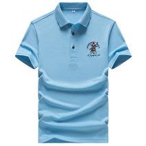 Polo shirt Manus Fashion City thin White, red, dark blue, light blue, yellow, orange M,L,XL,2XL,3XL,4XL easy go to work summer Short sleeve Basic public youth 2019