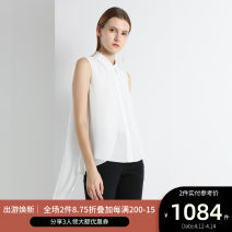 shirt BLACK,CREAM 0,2,4,6,8,10,12,14 Spring 2020 other 96% and above Sleeveless Versatile Regular Polo collar Single row multi button other Solid color 25-29 years old Ports ALL8B028KWP007
