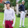 Sports T-shirt Other / other M. L, XL, XXL (adult) Long sleeves male Lapel T29 White, black routine Moisture absorption, perspiration, ventilation, elasticity, antistatic Autumn of 2019 Golf Uniform series polyester fiber