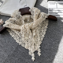 Scarf / silk scarf / Shawl Lace Green lace, black lace, white lace, pink lace, yellow lace Spring and autumn, winter, summer female Scarves / scarves decorate Korean version triangle Students, children: 7-14 years old, young, middle-aged, old Solid color Hollowing out 37cm 133cm