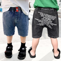 trousers Siliba male 90cm,100cm,110cm,120cm,130cm Black, blue summer Pant Korean version There are models in the real shooting Leather belt middle-waisted Don't open the crotch Class B 18 months, 2 years old, 3 years old, 4 years old, 5 years old, 6 years old, 7 years old, 8 years old