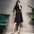 Dress Seaporey / cypress [yellow] [black] yellow black M L XL XXL Korean version Short sleeve Medium length summer Lapel