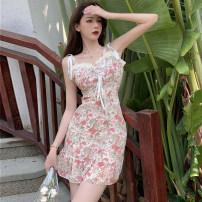 Dress Summer 2021 Pink S,M,L Short skirt singleton  High waist Socket
