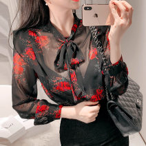 Lace / Chiffon Spring of 2019 Decor S,M,L,XL Long sleeves Versatile Socket singleton  easy Super short Decor 25-29 years old Other / other 51% (inclusive) - 70% (inclusive)