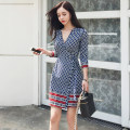 Dress Autumn of 2018 Picture color S,M,L,XL singleton  three quarter sleeve commute V-neck middle-waisted other other other routine Others Other / other Korean version 31% (inclusive) - 50% (inclusive) knitting other