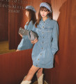 Dress Spring 2021 Blue in stock S,M,L Short skirt singleton  Long sleeves commute Polo collar High waist Solid color Single breasted A-line skirt routine Others Type A Korean version 91% (inclusive) - 95% (inclusive) Denim cotton