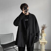 man 's suit Others Youth fashion routine S,M,L,XL,2XL easy Double breasted Other leisure No slits teenagers Long sleeves routine like a breath of fresh air Casual clothes Straight hem 2020 Three dimensional bag