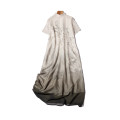 Dress Summer 2021 Ink and wash M (about 96cm chest circumference), l (about 102CM chest circumference), XL (about 108CM chest circumference) Mid length dress singleton  Short sleeve commute stand collar Loose waist Decor Socket other routine More than 95% silk