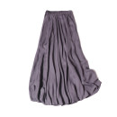 skirt Summer 2020 Mid length dress Sweet Natural waist Umbrella skirt Solid color Type A 25-29 years old More than 95% silk Bohemia
