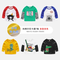 T-shirt Top one kids Sign 90 is about 90, sign 100 is about 100, sign 110 is about 110, sign 120 is about 120, sign 130 is about 130 male spring and autumn Long sleeves Crew neck Korean version No model nothing cotton Cartoon animation Cotton 95% polyester 5% CY2525 Class B other Chinese Mainland