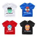 T-shirt White, black, red, blue Top one kids Sign 90 suggests height of about 90, sign 100 suggests height of about 100, sign 110 suggests height of about 110, sign 120 suggests height of about 115, sign 130 suggests height of about 120, sign 140 suggests height of about 130 male summer Short sleeve