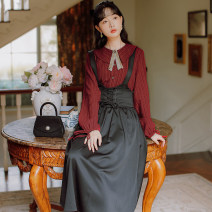 Fashion suit Autumn 2020 S,M,L,XL Shirt + skirt set 18-25 years old 71% (inclusive) - 80% (inclusive) cotton