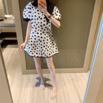 Dress Summer 2020 White (spot), white ~ pre-sale as soon as possible yo~ Average size Middle-skirt singleton  Short sleeve commute Doll Collar High waist Dot Socket A-line skirt routine Others 25-29 years old Type A Zhang Jingzhi Korean version 81% (inclusive) - 90% (inclusive)