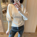 Sweater / sweater Winter of 2019 Average size Long sleeves have cash less than that is registered in the accounts Socket singleton  routine Crew neck commute puff sleeve 25-29 years old 96% and above lady cotton cotton