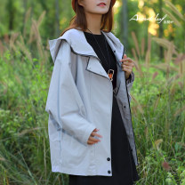Windbreaker Spring 2020 S,M,L,XL Sand lime Long sleeves routine Medium length zipper stand collar routine Solid color Straight cylinder 25-29 years old 96% and above cotton cotton cotton