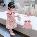 Dress gules female Geyoupailang 90cm 100cm 110cm 120cm 130cm 140cm Other 100% summer Korean version Short sleeve Dot other A-line skirt GYXP2461-1 Class B Summer 2021 18 months, 2 years old, 3 years old, 4 years old, 5 years old, 6 years old, 7 years old, 8 years old