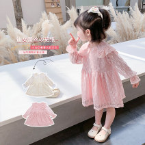 Dress Pink Beige female Geyoupailang 90cm 100cm 110cm 120cm 130cm 140cm Other 100% spring Korean version Long sleeves other other Princess Dress GYXP2432-1 Class B Spring 2021 18 months, 2 years old, 3 years old, 4 years old, 5 years old, 6 years old, 7 years old, 8 years old