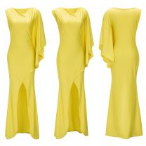 Dress Winter 2016 yellow XXL,XL,L,M Solid color Independent brand nothing M0271 cotton