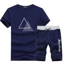 Leisure sports suit summer XL,L,M,4XL,XXL,XXXL Short sleeve Other / other shorts youth T-shirt polyester fiber 2020 95%
