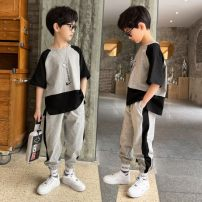 suit Other / other Black suit, purple suit 110cm,120cm,130cm,140cm,150cm,160cm male No season leisure time Long sleeve + pants 2 pieces Thin money There are models in the real shooting Socket nothing lattice cotton children Expression of love T002 other Other 100% Chinese Mainland