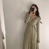 Wool knitwear Autumn of 2019 Average size Apricot, black Long sleeves other 51% (inclusive) - 70% (inclusive) Medium length Other / other