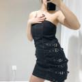 Dress Summer of 2019 Black, white S, M Short skirt singleton  Sleeveless street High waist Breast wrapping Europe and America