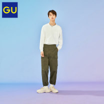 Casual pants Gu Youth fashion 09 black 32 complexion 57 Dark Olive 165/72A/S 170/76A/M 175/80A/L 180/88A/XL trousers Other leisure easy GU331867000 Cotton 100% Spring 2021 Same model in shopping mall (sold online and offline)