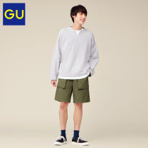 Casual pants Gu Youth fashion 09 black 30 light beige 57 Dark Olive 165/72A/S 170/80A/M 175/88A/L 180/96B/XL Pant Other leisure Straight cylinder Cotton 100% Summer 2021 Same model in shopping mall (sold online and offline)