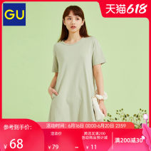 Dress Cotton 100% Same model in shopping malls (both online and offline) Short skirt Summer 2021 More than 95% 18-24 years old cotton GU332956000 gu 155/80A/S 160/84A/M 160/88A/L 165/92A/XL
