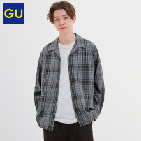 shirt Youth fashion Gu 165/84A/S 170/92A/M 175/100A/L 180/108/XL 08 dark grey 32 Dark Beige routine other Long sleeves standard Other leisure GU328411000 24% viscose polyurethane (74% spandex) Autumn 2020 Same model in shopping mall (sold online and offline)