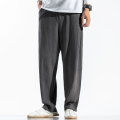 Casual pants Others Youth fashion Gray, black, khaki, navy M,L,XL,2XL,3XL,4XL,5XL routine trousers Other leisure easy No bullet K031 Four seasons youth Chinese style 2019 Medium low back Little feet Haren pants Solid color hemp Cotton and hemp