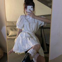 Fashion suit Summer 2020 Average size White shirt, white skirt