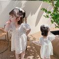 Dress Off white female Other / other 90cm,100cm,110cm,120cm,130cm,140cm Other 100% summer Korean version Short sleeve Broken flowers cotton Princess Dress LSXZ-Q5273 Class B 7 years old, 8 years old, 3 years old, 6 years old, 18 months old, 6 months old, 2 years old, 5 years old, 4 years old