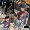 T-shirt dark grey Other / other neutral summer Short sleeve Crew neck leisure time There are models in the real shooting nothing cotton Cartoon characters Other 100% 18 months, 2 years old, 3 years old, 4 years old, 5 years old, 6 years old, 7 years old, 8 years old Chinese Mainland