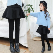 trousers Zhixin baby female The recommended height is about 95cm for Size 110, 105cm for Size 120, 115cm for Size 130, 1.25m for size 140, 1.35M for size 150 and 1.4m for size 160 winter trousers princess There are models in the real shooting Leggings Leather belt middle-waisted cotton Other 100%