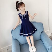 Dress Navy, red, pink female Other / other The recommended height is below 105cm for Size 110, 115cm for Size 120, 125cm for Size 130, 135cm for size 140, 145cm for size 150 and 155cm for size 160 Cotton 95% other 5% summer college Skirt / vest Solid color cotton other Class B