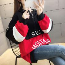 Sweater / sweater Winter of 2019 9307 Plush Yellow, 9307 plush red, 9307 yellow, 9307 red, 9306 black and white red, 9306 blue white orange, 9916 denim blue, 9916 orange, 9916 Plush denim blue, 9916 Plush orange, 9617 white, 9617 gray, 9617 blue, 9617 orange M,L,XL,2XL Long sleeves Medium length Hood