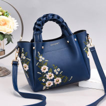 Bag The single shoulder bag PU Princess Dai Bao Tianyan brand new Japan and South Korea in leisure time soft zipper no Plants and flowers Single root One shoulder cross carry Yes youth Horizontal square flower Soft handle polyester fiber soft surface Inner patch pocket